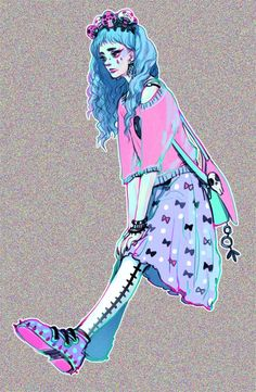 my swamp witch as a pastel goth ahahaaa this was...