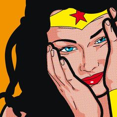 Secret life Of Heroes — Greg Guillemin Wonder Woman Art, Wonder Woman Kunst, Bd Pop Art, Pop Art Girl, Comic Kunst, Comic Art, Desenho Pop Art, Retro Pop, The Villain