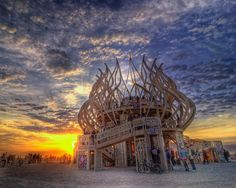 Burning Man 2009 Temple Sunrise