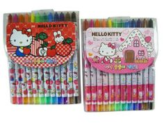 Sanrio Hello Kitty Crayon Set - Hello Kitty Crayon Stick Stationary Supplies Pack (12 Crayons) by sanrio. $7.49