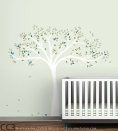 Items similar to Fall Tree Extended Wall Decal - Yellow, Beige, Brown, Green, White Tree Decals on Etsy Dark Brown Color, Olive Green Color, Green Colors, Light Beige, White Light, Wall Decals Yellow, Tree Decals, Animal Nursery, Tree Designs
