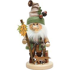 Smoker gnome with fox - 34cm / 13.4inch