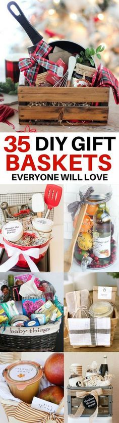 DIY Gift Baskets Everyone Will Love. The BEST DIY gift basket ideas for every occasion! Ideas for get well baskets, housewarming baskets, teacher appreciation baskets, Christmas baskets and more. Jar Gifts, Food Gifts, Craft Gifts, Teen Gift Baskets, Christmas Gift Baskets, Basket Gift, Raffle Baskets, Creative Gift Baskets, Baskets For Hampers