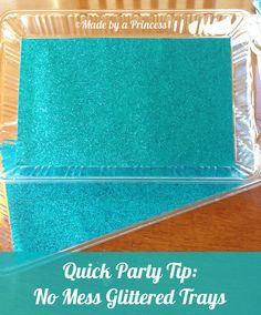DIY No Mess Glittered Tray {Made by a Princess} #diy #frozenparty #frozen #glitter