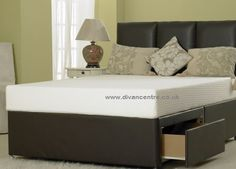5ft King Size Divan Bed Base in Brown Faux Leather