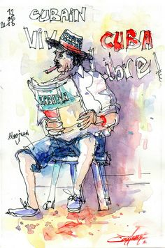 Cubain au journal | Flickr: partage de photos!