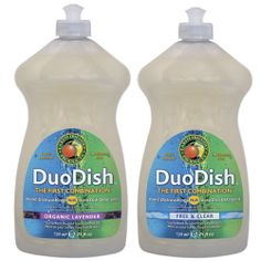 DuoDish™ is a revolutionary breakthrough in dishwashing. For the first time ever, you can handle your dishwashing needs with one detergent - DuoDish™. Have a few dishes to clean? Just hand wash to avoid waste. Is your sink cluttered? Use that same liquid for a full automatic machine load.