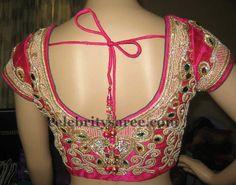Pink wedding saree blouse