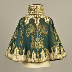 LOT 413 MIDDLE EASTERN METALLIC EMBROIDERED CAPE and VEST, 1890s - whitakerauction