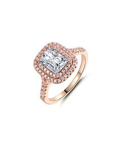 This Cubic Zirconia & Rose Gold Engagement Ring is perfect! #zulilyfinds