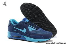 new arrivals 6e96a d5fb6 2014 Chaussures Nike Air Max 90 Femmes Chaussures HYP PRM KPU Chaussures  Online Bleu Jordan 11