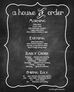 Mom's Chore Chart Printable {Free Download}   Corduroy Dreams                                                                                                                                                                                 More