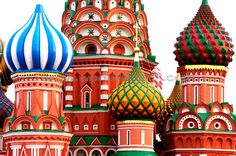 Stock Photo titled: Saint Basils Cathedral Domes On The Red Square In Moscow Russia Eastern Europe Travel Photography, unlicensed use prohibited