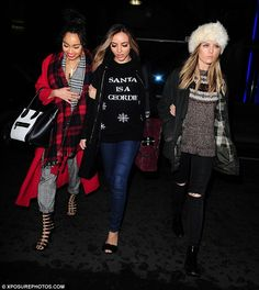 Ladies' night! Little Mix stars Perrie Edwards and Leigh-Anne Pinnock joined their bandmat...