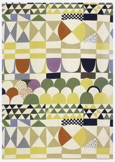 Josef Frank, textile design Bows, 1960. Sweden. Via Cooper Hewitt