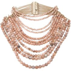 ROSANTICA beaded necklace ($775) ❤ liked on Polyvore