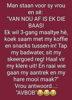 Wedding Jokes, Lekker Dag, Qoutes, Life Quotes, Afrikaanse Quotes, How To Get Rid, Cocktail Recipes, Bonsai, Sarcasm