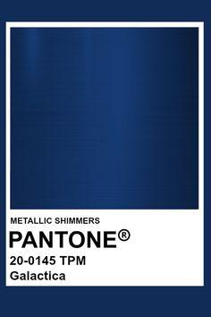 Galactica #Metallic #Pantone #Color Pantone Colour Palettes, Pantone Color, Royal Colors, Mood Colors, Sapphire Color, Colour Pallette, Colour Board, Metallic Colors, Color Swatches