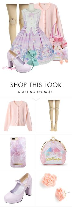 """:D"" by cristinalvarez ❤ liked on Polyvore featuring Hot Topic, iDeal of Sweden, Gymboree and Betsey Johnson"