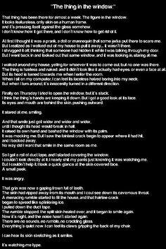 Very creepy story