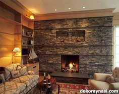 Fireplace Ideas is a home interior supports that is build by some purpose and decoration of a hosed design. Cozy Fireplace, Fireplace Surrounds, Fireplace Ideas, Fireplace Glass, Foyers, Decorative Stone Wall, Stone Fireplace Designs, Stone Fireplaces, Home Interior