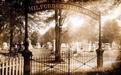 Milford Center Cemetery, located about 11 miles northwest of Plain City, Ohio. This photo is from Scott Hawley.