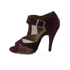 Dance Shoes - $35.99 - Women's Satin Heels Sandals Latin With Buckle Dance Shoes (053047215) http://jjshouse.com/Women-S-Satin-Heels-Sandals-Latin-With-Buckle-Dance-Shoes-053047215-g47215