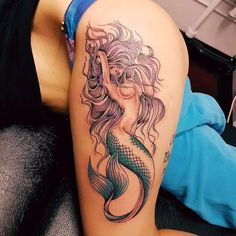 #tattoo #tattoos #tatt #art #arttattoo #tattoowork #tattooed #ink #spacetattoo #inktattoo #latattoo #calitattoo #palmtattoo #instatattoo #womentattoo #bodytattoos #mermaid #mermaidtattoo #mermaids #thightattoo #thigh #underboob #underboobtattoo