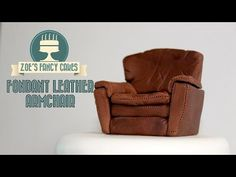 Fondant leather arm chair / sofa cake topper - video tutorial - CakesDecor