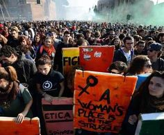 """""""A Woman's Place Is In the Struggle"""" Quote by Assata Shakur  Photo from Rome today #14N"""