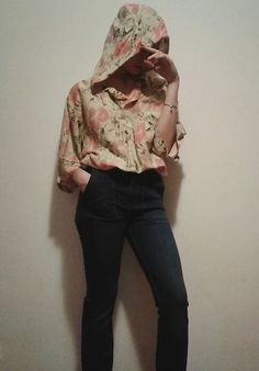 Get this look: http://lb.nu/look/8743773  More looks by Laura Gal: http://lb.nu/laurashaddix  Items in this look:  Vintage Shirt, Zara 1975 Jeans   #bohemian #retro #vintage #floral