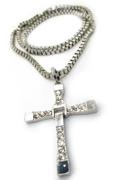 Dominic Toretto Cross Necklace Inspired By Fast & Furious 6 The Furious, Fast And Furious, Ring Necklace, Dog Tag Necklace, Dominic Toretto, Skull Wallpaper, Jewelry Armoire, Lord Of The Rings, Cross Pendant