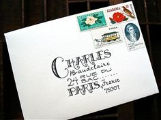 This writing, in combination with these stamps, plus the fact that it's going to Charles Baudelaire IRL. | 37 Borderline Erotic Photos For People Who Love Stationery