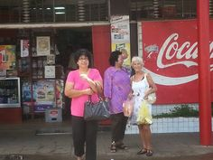 In front of a tipical Chinese store in Surinam.