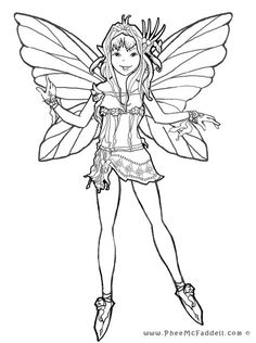 FAIRY colouring pages FREE from Phee McFaddell