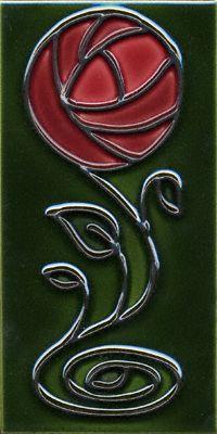 Mackintosh Rose Vertical Accent