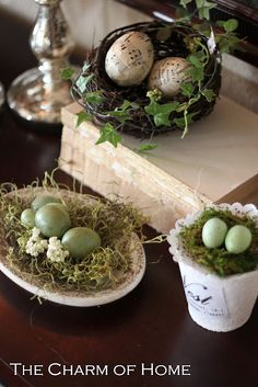 Spring (sheet music-covered eggs)