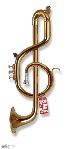 Treble clef Trumpet - Worth1000 Contests