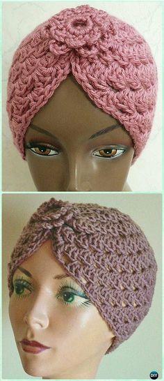 Crochet Shell Stitch Turban Hat Free Pattern - Crochet Turban Hat Free Patterns