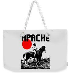 Native American Weekender Tote Bag featuring the mixed media Apache by Otis Porritt