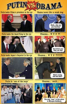 Putin Vs Obama Hilariously Compared in 10 Brutal Pictures : http://theawesomedaily.com/putin-vs-obama/# #hilarious #funny