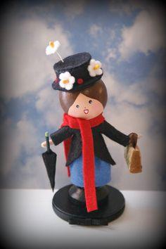 Mary Poppins Clothespin Doll. $35.00, via Etsy.