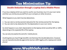 Tax minimisation tip for laptops and mobile phones.