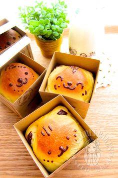 Bread Machine Recipes, Bread Recipes, Cooking Recipes, Cooking Ideas, Baking Buns, Cute Baking, Japanese Treats, Japanese Desserts, Fluffy Bread Recipe