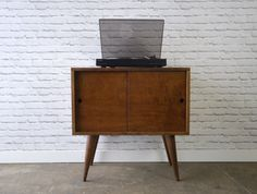 Record Storage Cabinet Mid Century Modern Inspired by STORnewyork