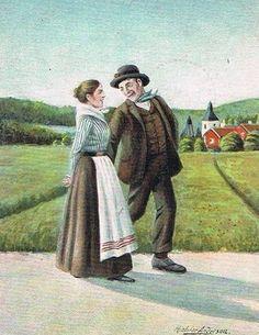 O flickan lade sin hand uti hans, så gingo de på vägen till dans. 1913
