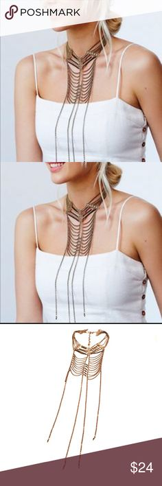 Free People Wild Fire Fringe Necklace Store overstock; New with tags; Free People Wild Fire Fringe Necklace Free People Jewelry Necklaces
