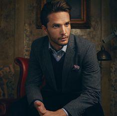 Dejan Obradovic- Male Model. Advertising shoot for Hawes & Curtis AW17. Menswear. Tailoring.