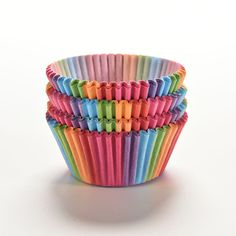 100Pcs Colorful Rainbow Paper Cake Cupcake Liners Baking Muffin Cup Case Party 0 #Unbranded