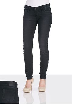 Silver Jeans Co.® Camden Rose Black Wash Skinny Jeans available at #Maurices